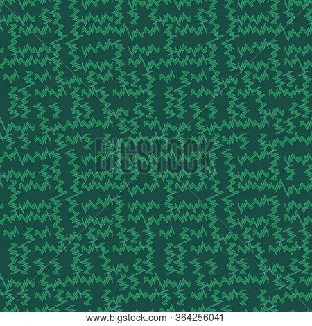 Green Abstract Geometric Seamless Vector Pattern. Unisex Surface Print Design. For Fabrics, Statione