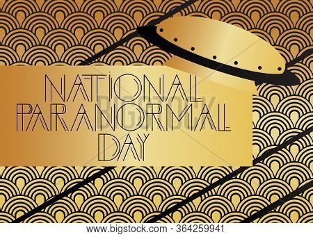Art Deco National Paranormal Day (may 3) Text. Decorative Greeting Card, Sign With Vintage Letters.