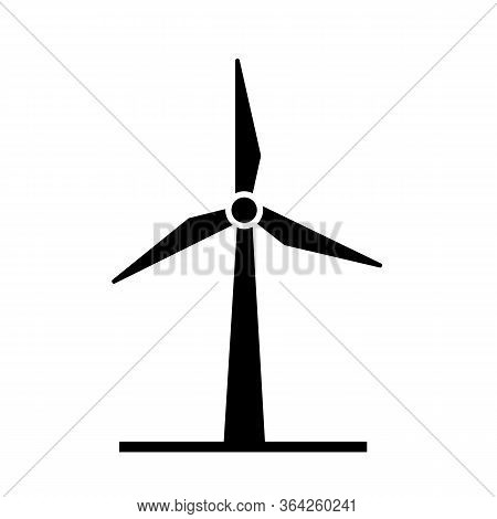 Windmill  Icon On White Background. Flat Style. Turbine Icon For Your Web Site Design, Logo, App, Ui