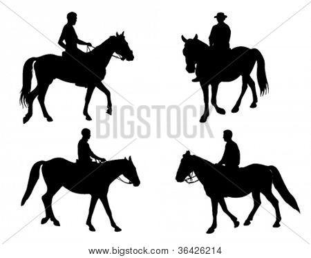 horsemen silhouettes