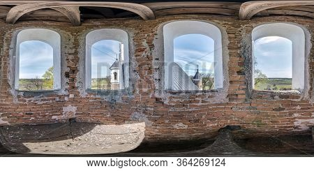 Full Seamless Spherical Hdri Panorama 360 Degrees Angle View Inside The Bell Tower Of Old Orthodox D