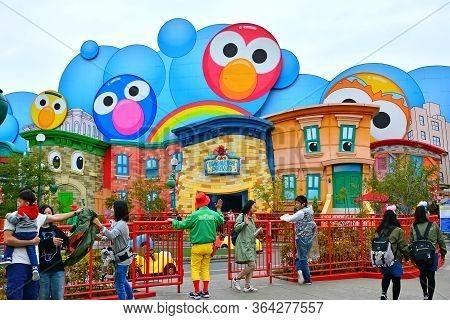 Osaka, Jp - April 7 - Sesame Street Theme Elmo Imagination Playland At Universal Studios Japan On Ap
