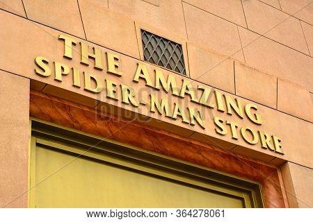 Osaka, Jp - April 7 - Spider Man Store Sign At Universal Studios Japan On April 7, 2017 In Osaka, Ja