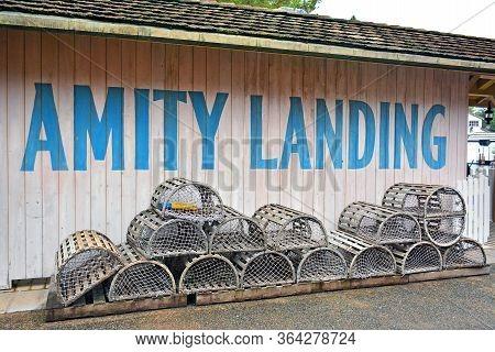 Osaka, Jp - April 7 - Amity Village Theme Amity Landing Backyard At Universal Studios Japan On April