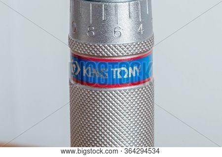 Pruszcz Gdanski, Poland - April 25, 2020: King Tony Logo On Torque Wrench.