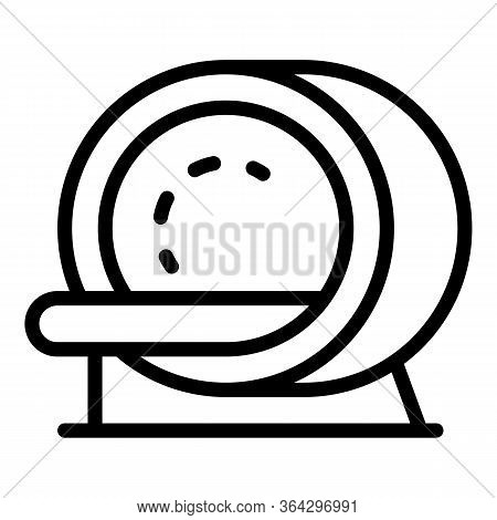 Mri Scanner Icon. Outline Mri Scanner Vector Icon For Web Design Isolated On White Background