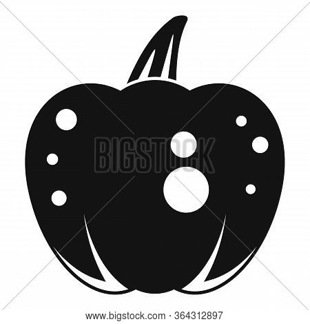 Fear Pumpkin Icon. Simple Illustration Of Fear Pumpkin Vector Icon For Web Design Isolated On White