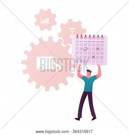 Scm, Supply Chain Management, Procurement Process Of Purchasing Goods Or Services With Tiny Male Bus