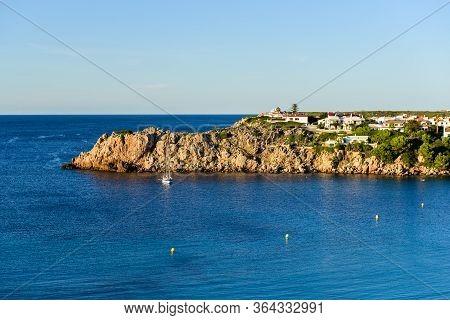 Arenal D'en Castell Beach, One Of The Best Resort Beaches On Menorca, Spain