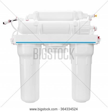 Modern Filter For Water Purification. Five Step Reverse Osmosis Filtration System. File Contains Cli