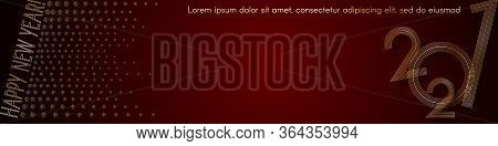 2021 New Year Gold Line On A Red Background Header Creative Element For Design Luxury Card Invitatio