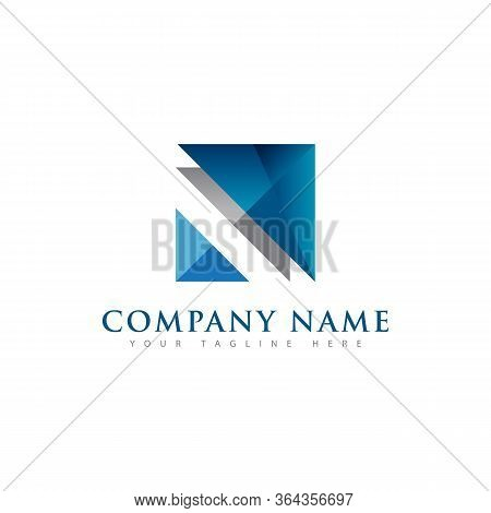 Abstract Shiny Layered Or Stacked Square Symbol Logo For Company Or Corporate Use Brand