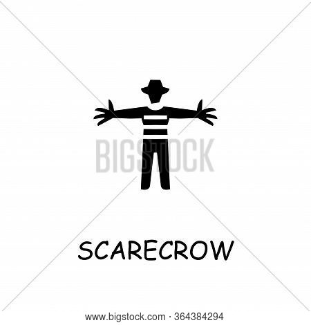 Scarecrow Flat Vector Icon. Hand Drawn Style Design Illustrations.