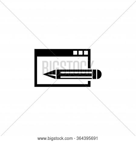 Website Editing, Frontend And Backend. Flat Vector Icon Illustration. Simple Black Symbol On White B