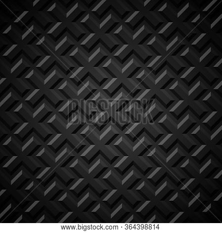 Seamless Geometric Background. Crosses Embossed With Shadow. Vector Illustration.