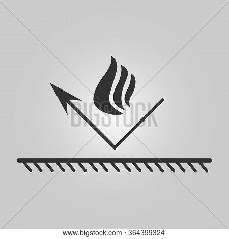 Fire Resistant Coating Icon - Fireproof Illustration - Bonfire