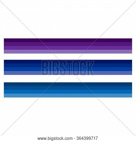 Blue Tones Vector - Cold Colors Illustration - Shades