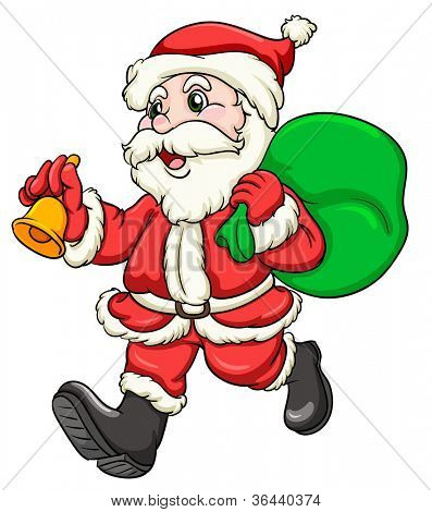 illustration of a santaclause on a white background