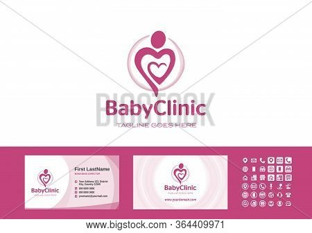 Mother Love. Happy Mothers Day. Mom Heart Care. Birth Attendant. Birthing Assistant. Logo And Busine