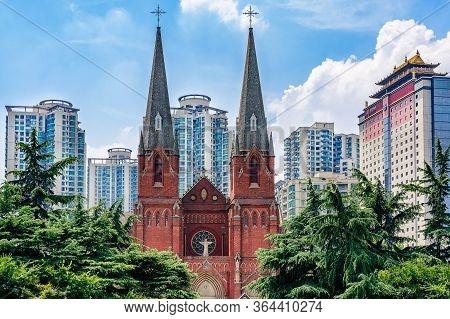 St. Ignatius Cathedral Xujiahui Cathedral, Roman Catholic Church Located In Xujiahui District In Sha