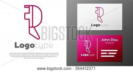 Logotype Line Fencing Helmet Mask Icon Isolated On White Background. Traditional Sport Defense. Logo