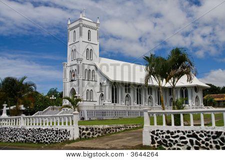 White Church In Samoa