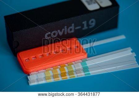 Coronavirus (COVID-19) IgM/IgG Rapid Test Kit. covid-19  IGM / IGG antibody diagnostic test in microbiological lab. Coronavirus quick test concept design.