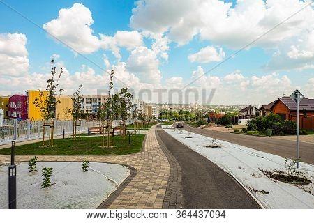 Southwestern Residential Area Of Belgorod, Russia. Kashtanovaya Street On Novaya Zhizn (new Life) Ci