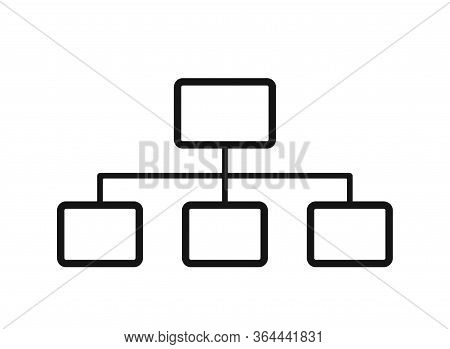 Flowchart Icon. Vertical Hierarchy Flowchart Template. Business And Infographic Design Element