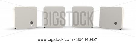Internet Of Things Sensors Isolated On White.3d Rendering