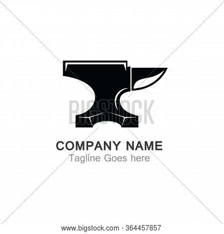 Anvil Blacksmith Vector Logo Design Template On White Backgound