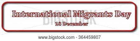 Lettering Banner International Migrants Day Global Migration Concept Illustration 18 December