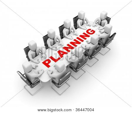 Planning. Image contain clipping path