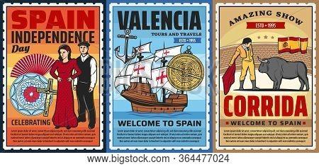 Spanish Culture Flamenco Dance And Corrida Bulls Show, Ceramics And Marine Museum, National Costumes