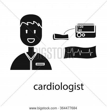 Vector Design Of Cardiologist And Cardiovascular Symbol. Set Of Cardiologist And Cardiac Vector Icon