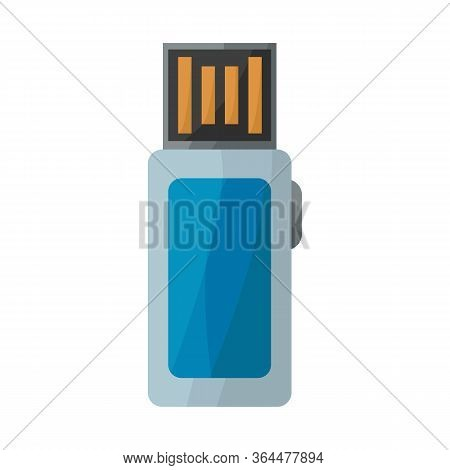Vector Design Of Usb And Memory Symbol. Web Element Of Usb And Pc Stock Vector Illustration.