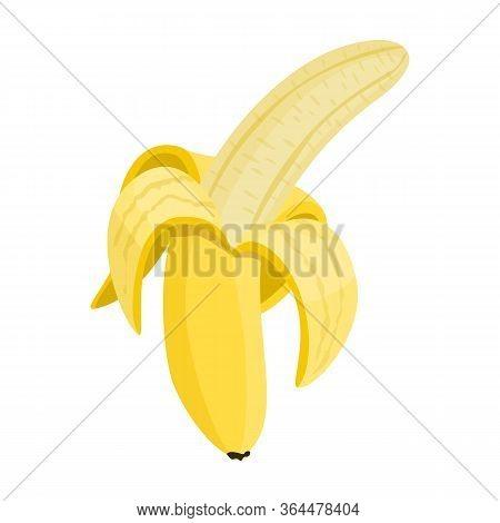 Purified Banana Vector Icon.cartoon Vector Icon Isolated On White Background Purified Banana.