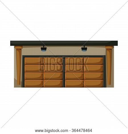 Garage Of Building Vector Icon.cartoon Vector Icon Isolated On White Background Garage Of Building.