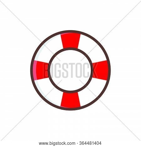 Life Buoy Vector Graphic Design Illustration Template