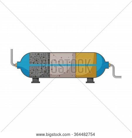 Filtration Tank Vector Icon.cartoon Vector Icon Isolated On White Background Filtration Tank.