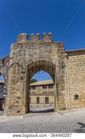 City Gate Puerta De Jaen In Historic City Baeza, Spain