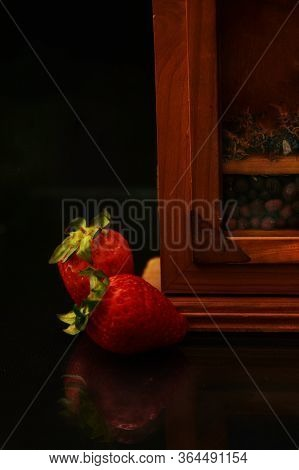 Strawberry Set For Breakfast Or Snack