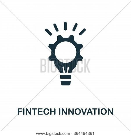 Fintech Innovation Icon. Simple Illustration From Fintech Industry Collection. Creative Fintech Inno