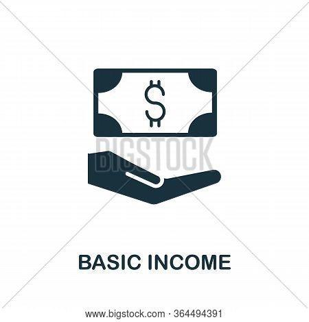Basic Income Icon. Simple Illustration From Fintech Industry Collection. Creative Basic Income Icon