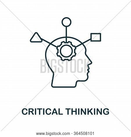 Critical Thinking Icon From Personality Collection. Simple Line Critical Thinking Icon For Templates