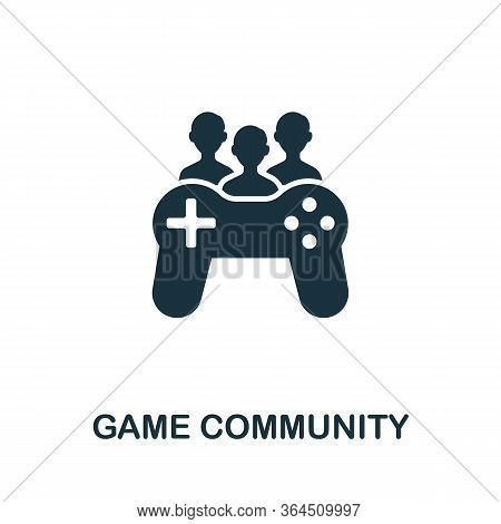Game Community Icon From Video Games Collection. Simple Line Game Community Icon For Templates, Web