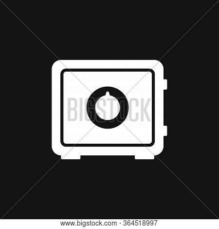 Moneybox Icon. Modern Flat Design Isolated On Background
