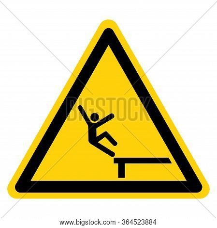 Warning Fall From Heights Symbol Sign ,vector Illustration, Isolate On White Background Label. Eps10