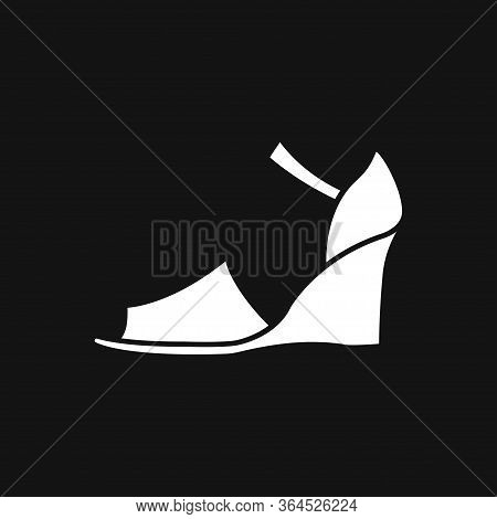 Peep-toe Icon. High Heels Illustration. Shoes Illustration. Shoes Icon. Vector Illustration