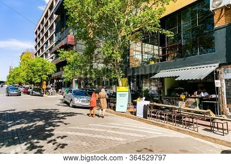 Street Cafe And Restaurants At Moboneng Precinct In Johannesburg Central Business District